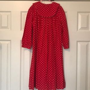 Mom and me Red and White polka dot dress size 8